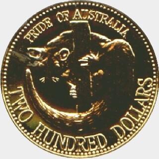 1993  Two Hundred Dollar reverse