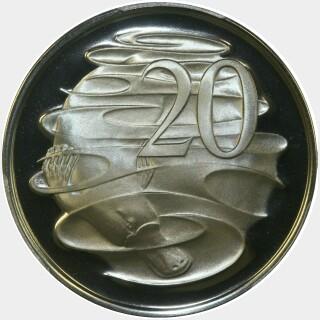 1975 Proof Twenty Cent reverse