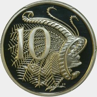 1980 Proof Ten Cent reverse