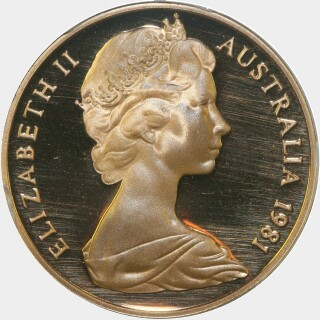 1981 Proof Two Cent obverse