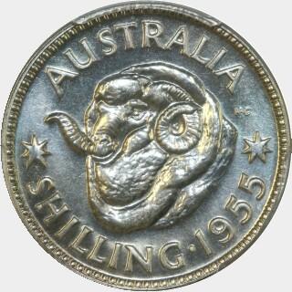 1955 Proof Shilling reverse