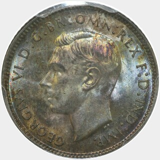 1943-D  Sixpence obverse