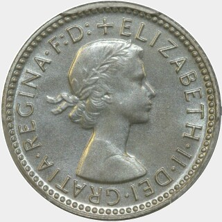 1961 Proof Sixpence obverse
