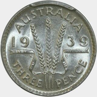 1939  Threepence reverse