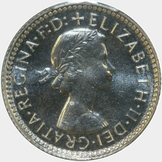 1962 Proof Sixpence obverse