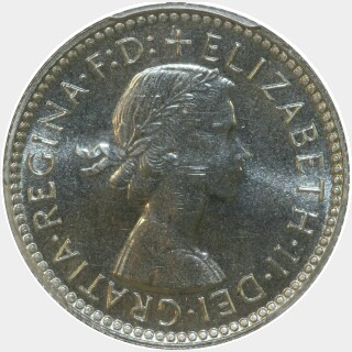 1963 Proof Sixpence obverse