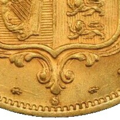 S mintmark indicates this was struck at the Sydney mint
