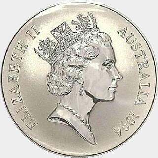 1994-C Start-Stop Milling One Dollar obverse