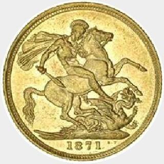 1875-M Proof Narrow Truncation Long Tail Full Sovereign reverse