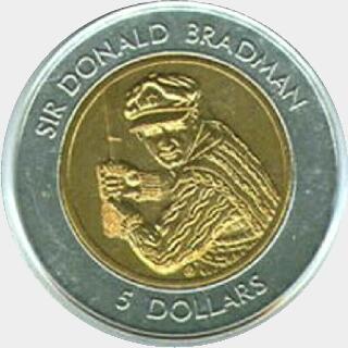 1997 Bi-Metal Five Dollar reverse