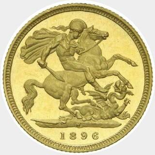1896-M Proof Half Sovereign reverse