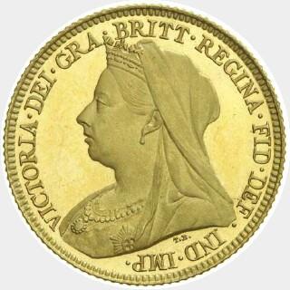1896-M Proof Half Sovereign obverse