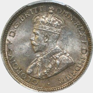 1921  Sixpence obverse