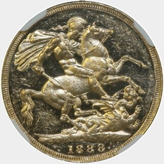 1888-M JEB as IEB Full Sovereign reverse