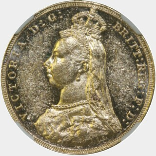 1888-M JEB as IEB Full Sovereign obverse