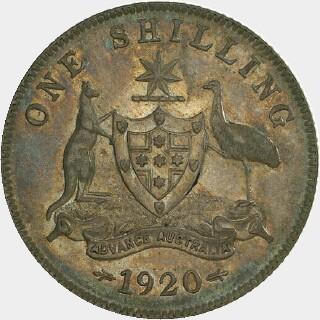 1920 Specimen Shilling reverse