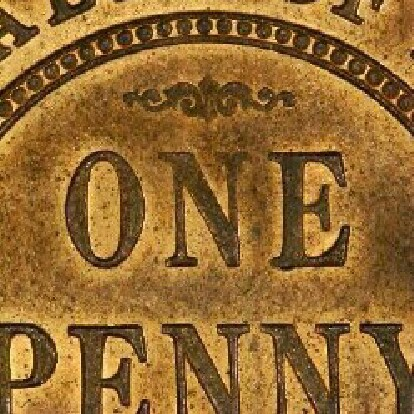 Soft N of ONE on the reverse of a 1911 penny
