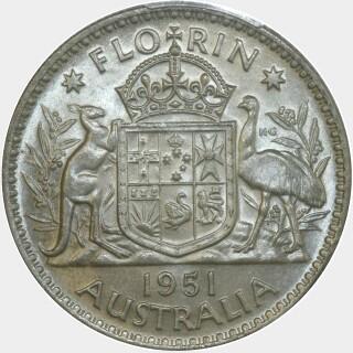 1951  Florin reverse