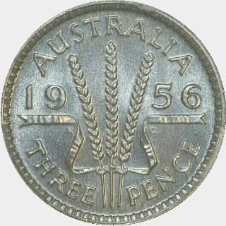 1956 Specimen Threepence reverse