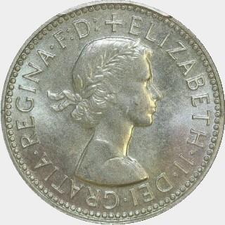 1955 Specimen One Shilling obverse