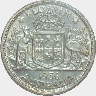1956 Specimen Florin reverse