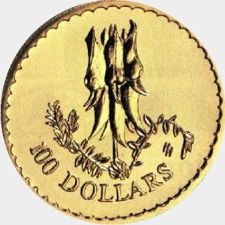 1998  One Hundred Dollar reverse
