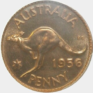 1956 Proof Penny reverse
