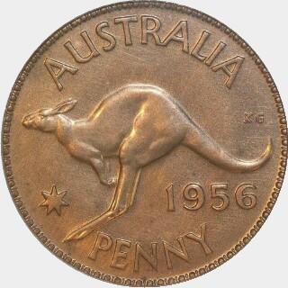 1956 Specimen Penny reverse