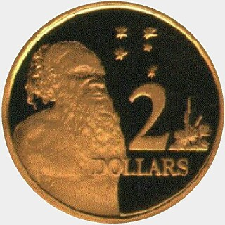 2010 Gold Proof Two Dollar reverse