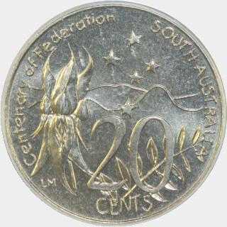 2001  Twenty Cent reverse