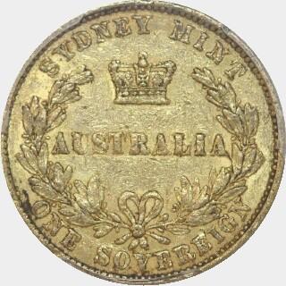 1860  Full Sovereign reverse