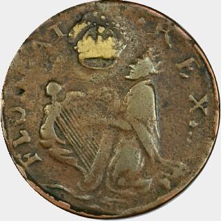 1658-70 No C Farthing reverse