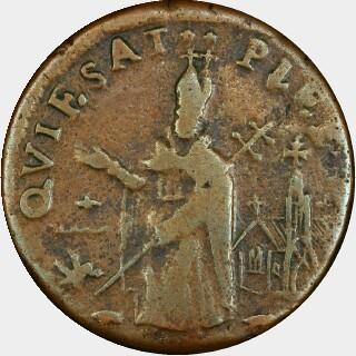 1658-70 No C Farthing obverse