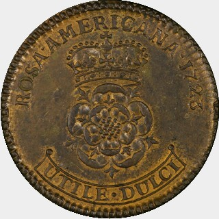 1723  Twopence reverse