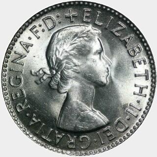 1956  Shilling obverse