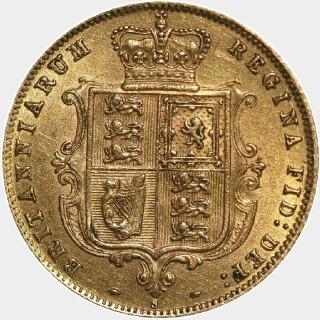 1875-S  Half Sovereign reverse