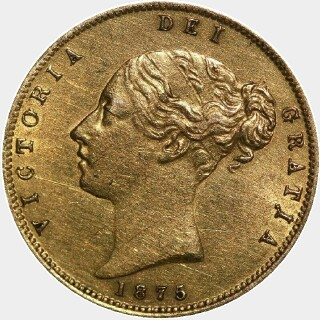 1875-S  Half Sovereign obverse