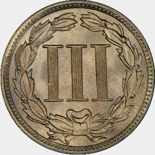 1888  Three Cent reverse