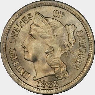 1888  Three Cent obverse