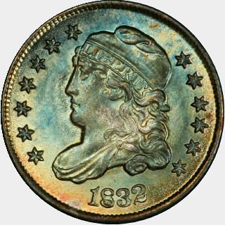 1832  Five Cent obverse