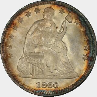 1860  Five Cent obverse