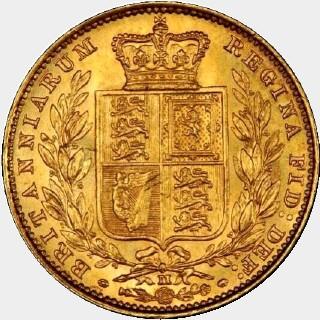 1884-M  Full Sovereign reverse