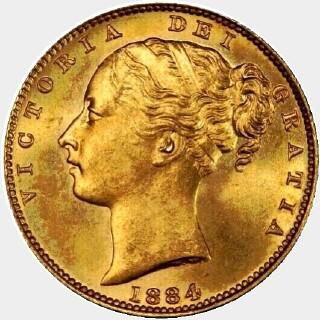 1884-M  Full Sovereign obverse