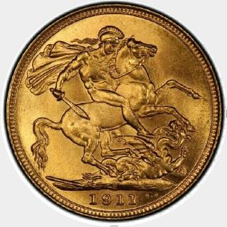 1911-S  Full Sovereign reverse