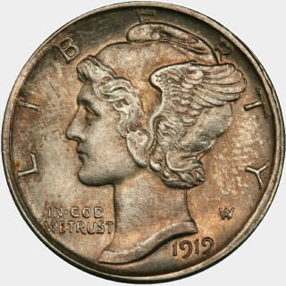 1919-D  Ten Cent obverse