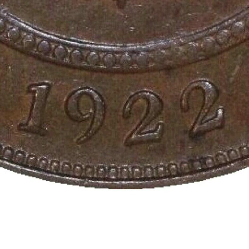 Reverse shows slightly narrower date