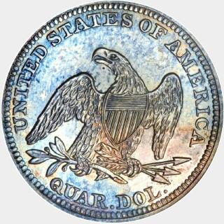 1841 Proof Quarter Dollar reverse