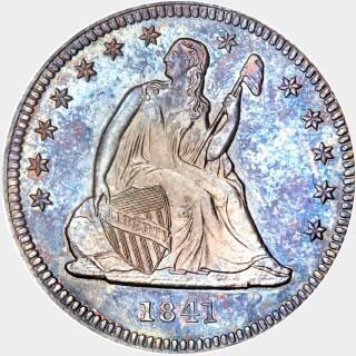 1841 Proof Quarter Dollar obverse