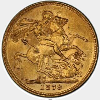 1879-M Narrow Truncation Long Tail Full Sovereign reverse