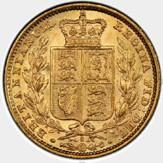 1885-S  Full Sovereign reverse